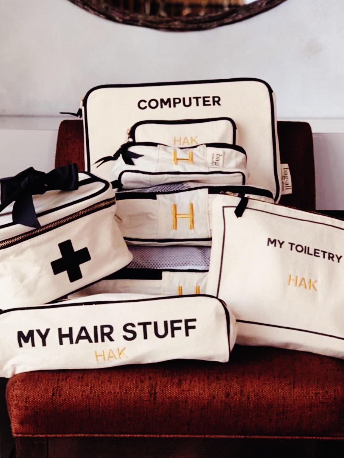 computer case, packing cubes, medical box, hair stuff, my toiletry case, monogram, mood bag-all.jpg