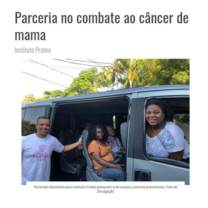 Projeto Colabora escreve sobre a parceria Protea para a luta contra o câncer de mama. - Clique na imagem para ver o artigo todo!