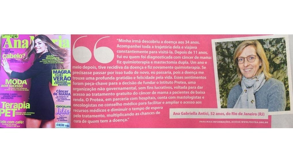 Entrevista da Fundadora do Instituto Protea para a Revista Ana Maria.  - Click na imagem e leia o artigo!