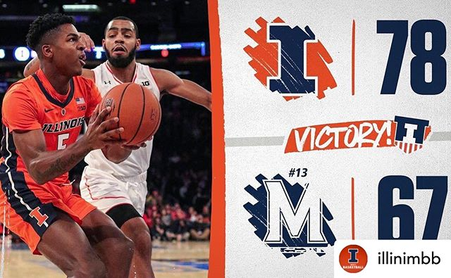 Congrats on the well deserved win @illinimbb 🔶🔷 Posted @withrepost • @illinimbb Knockout WIN at @thegarden!  #Illini x #EveryDayGuys 🔶🔷