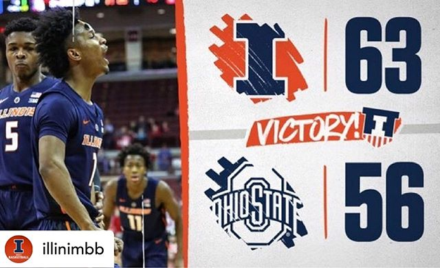 A very successful business trip to The Schottenstein Center! ☑️ #illini  Posted @withrepost • @illinimbb 4-in-a-row 🙌 🔥🔥🔥🔥 #Illini x #EveryDayGuys 🔶🔷
