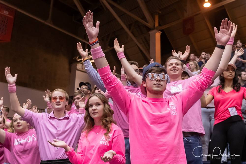 Photo taken by Craig Pessman of Spike Squad at the annual pink match.