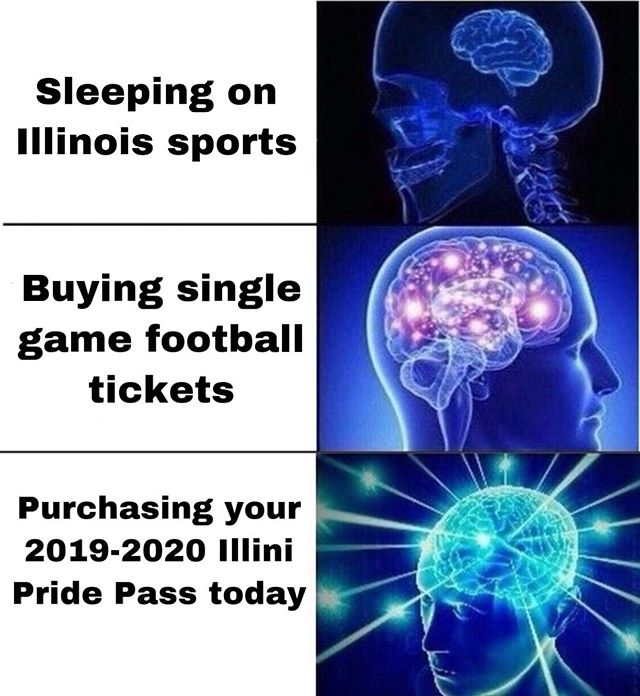 Are you ready for another exciting year with @illiniathletics ??? Don't miss out on all the action! Get your Illini Pride Pass before it's too late! Link is in our bio 🔷🔶