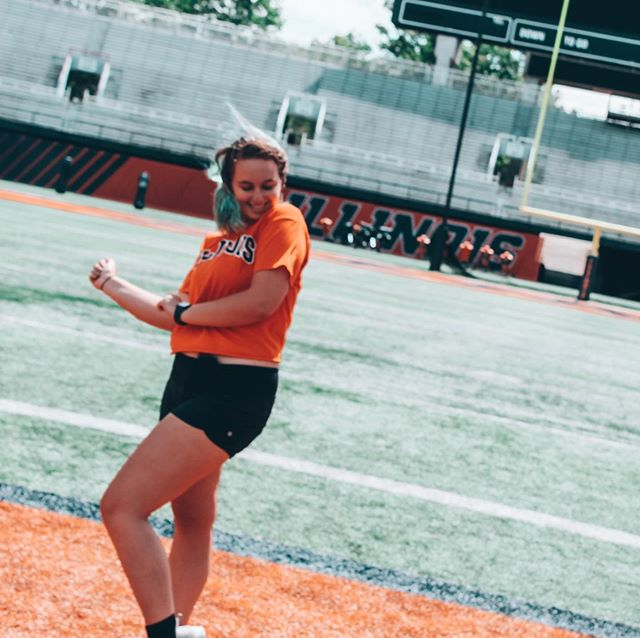 doin' our happy dance because we're finally BACK! • • • • • Sights and Sounds tonight, Quad Day tomorrow, and Kickoff on Wednesday?? Yes please!!