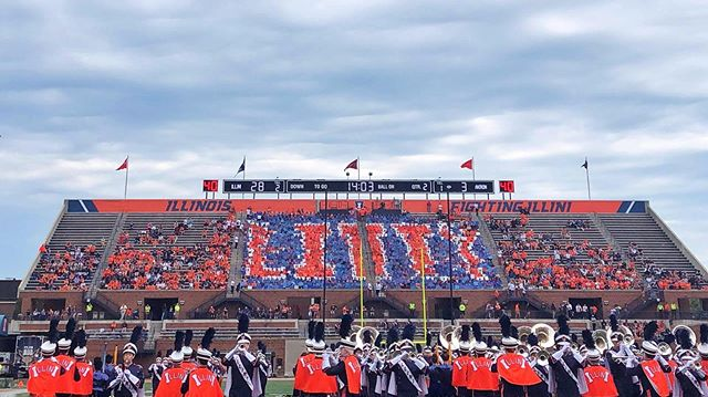 First card stunts of the season! We can't wait to be back in the North Endzone next week!