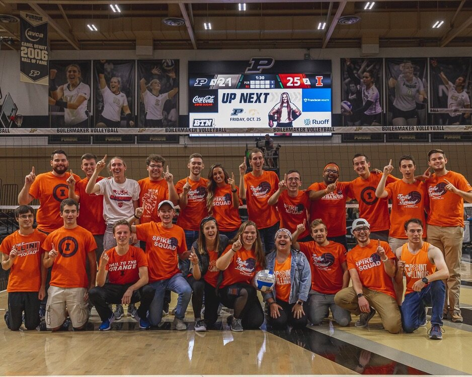 Spike Squad after the 2019 incognito road trip to Purdue