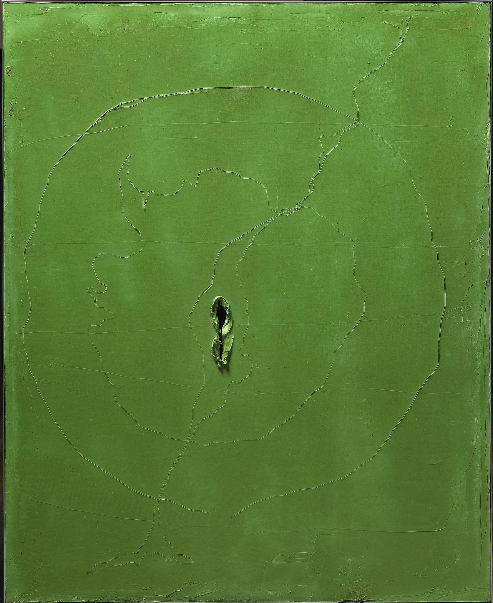 Lucio Fontana,  Rosario de Santa Fé 1899 – 1968 Comabbio  Concetto Spaziale, Attesa , 1962 Signed lower right: l. fontana Oil, cuts and sgraffito on canvas 101 x 81 cm / 39.7 x 31.8 in