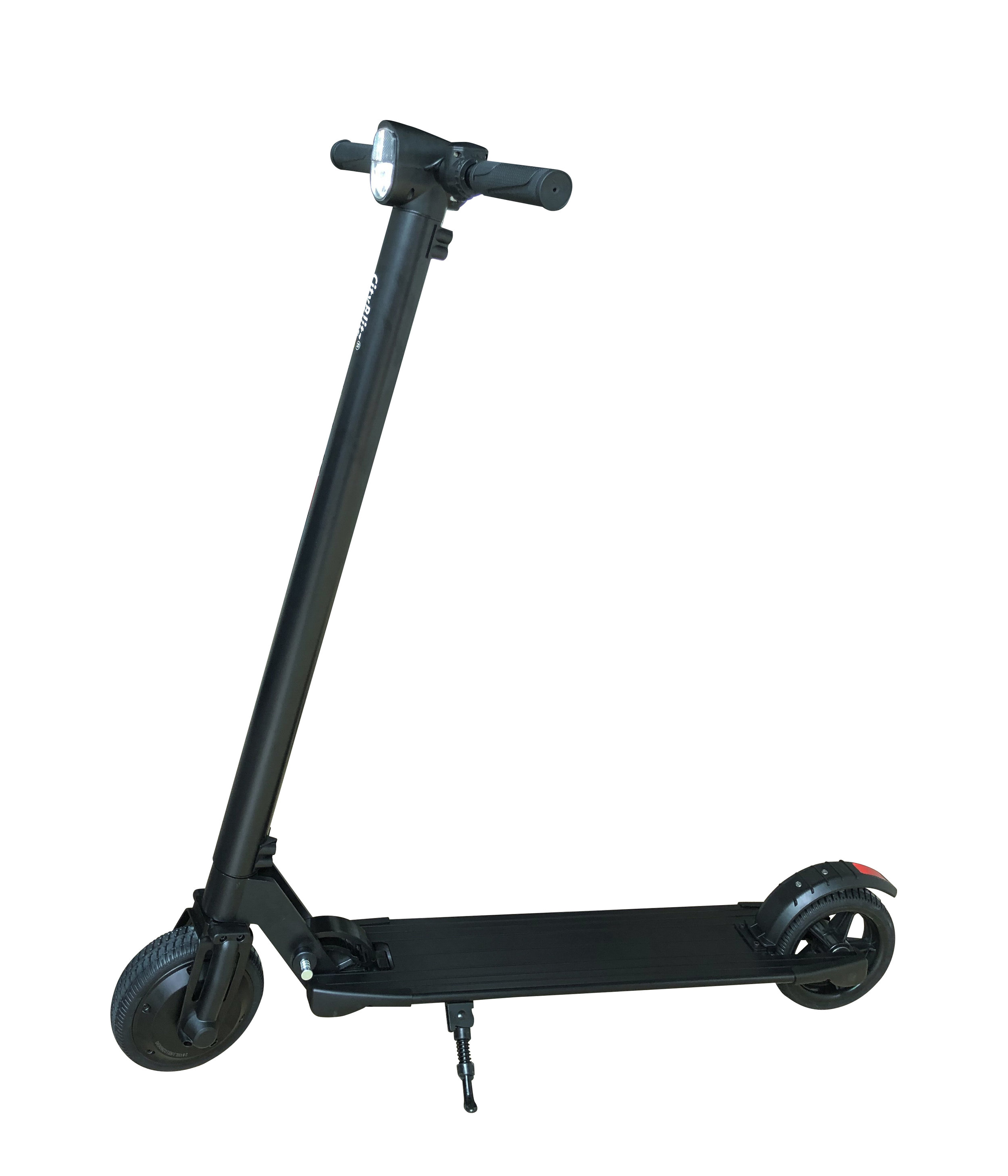 CityBlitz® E-Scooter BIZ - Model Number: CB014aTires 8'Brakes Front (electric) & back (physical)Motor 250 Watt frontBattery 4400 mAh in tubeLights FrontDisplay on handlebar (Speed, Distance, Battery status, 3 gears)Max Speed 24 km/h (according to drivers weight and underground)Special Kickstand, Business Bag (additional)