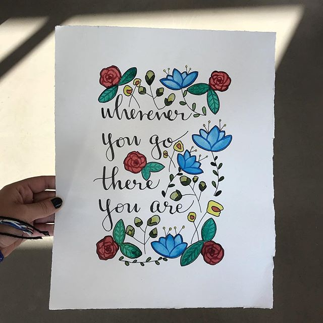 Commissioned by @maggieclose 🌼 Send your holiday orders in!  #typography #calligraphy #penmanship #watercolor #quotes