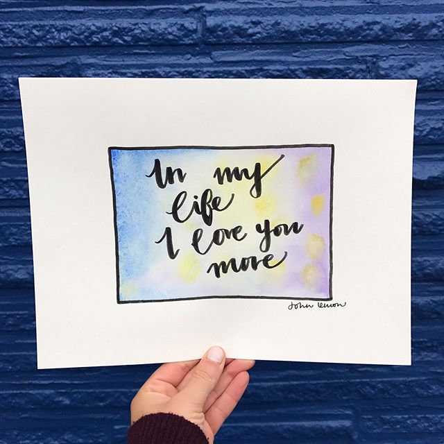 There are places I remember #johnlennon #lennonmccartney . . #calligraphy #watercolor #script #ink #quote #typography #handwriting
