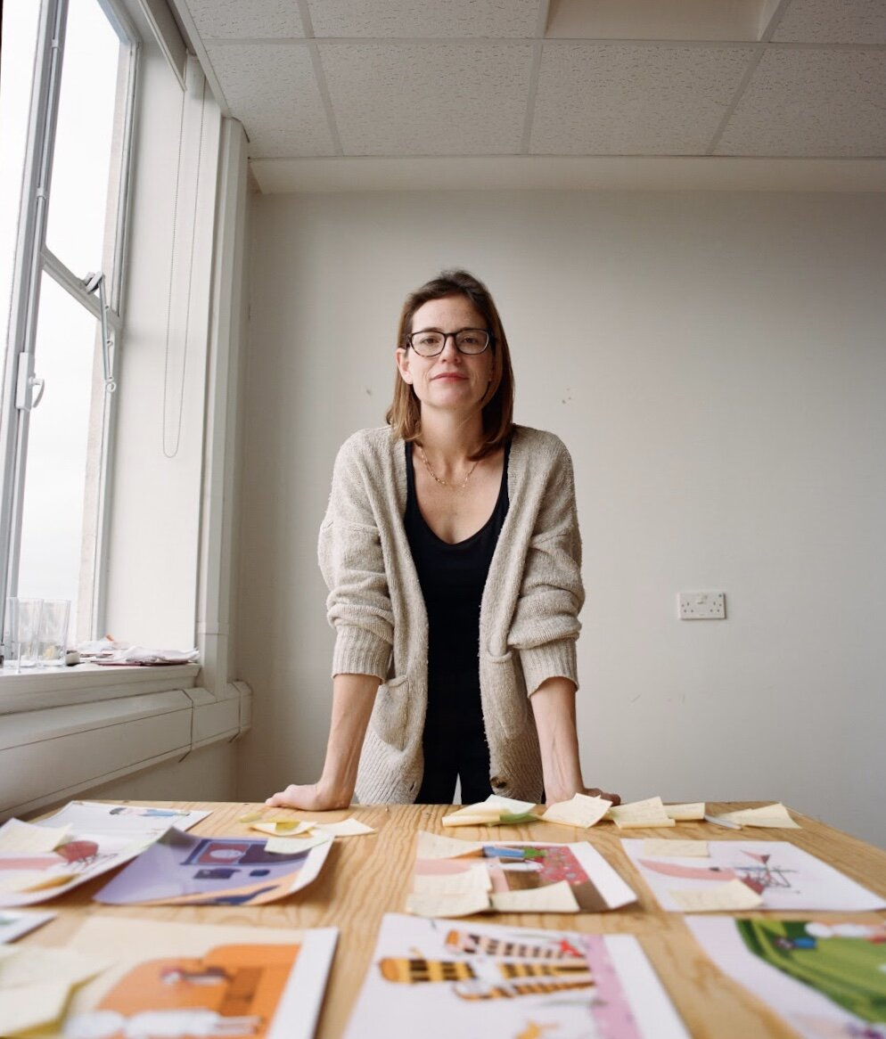 Co-founder of In The History Books, Niamh Mulvey in their studio. Photography by Henry J Kamara.