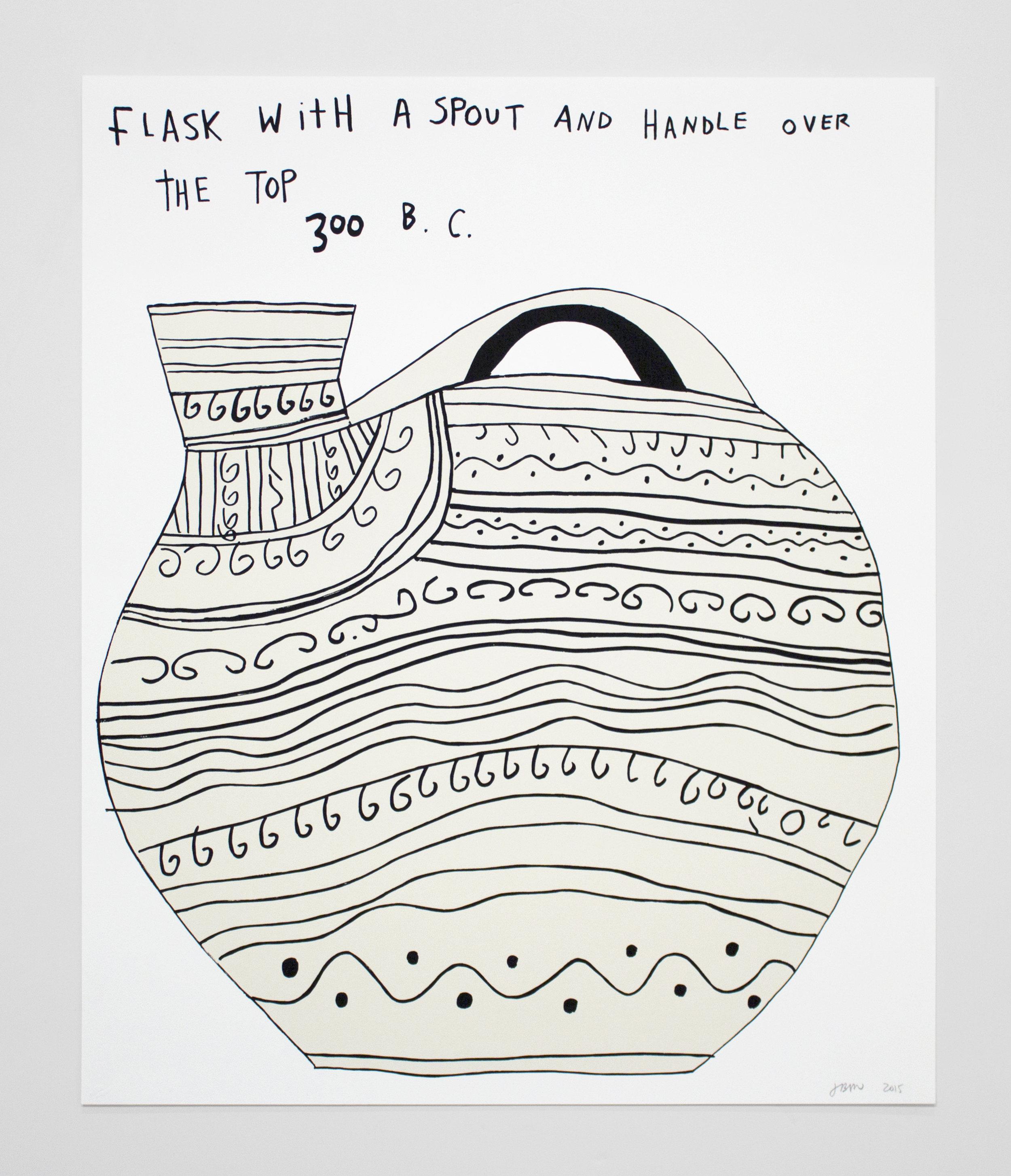 Jonas Wood, [untitled] White Columns 2015 Print Portfolio, 2015