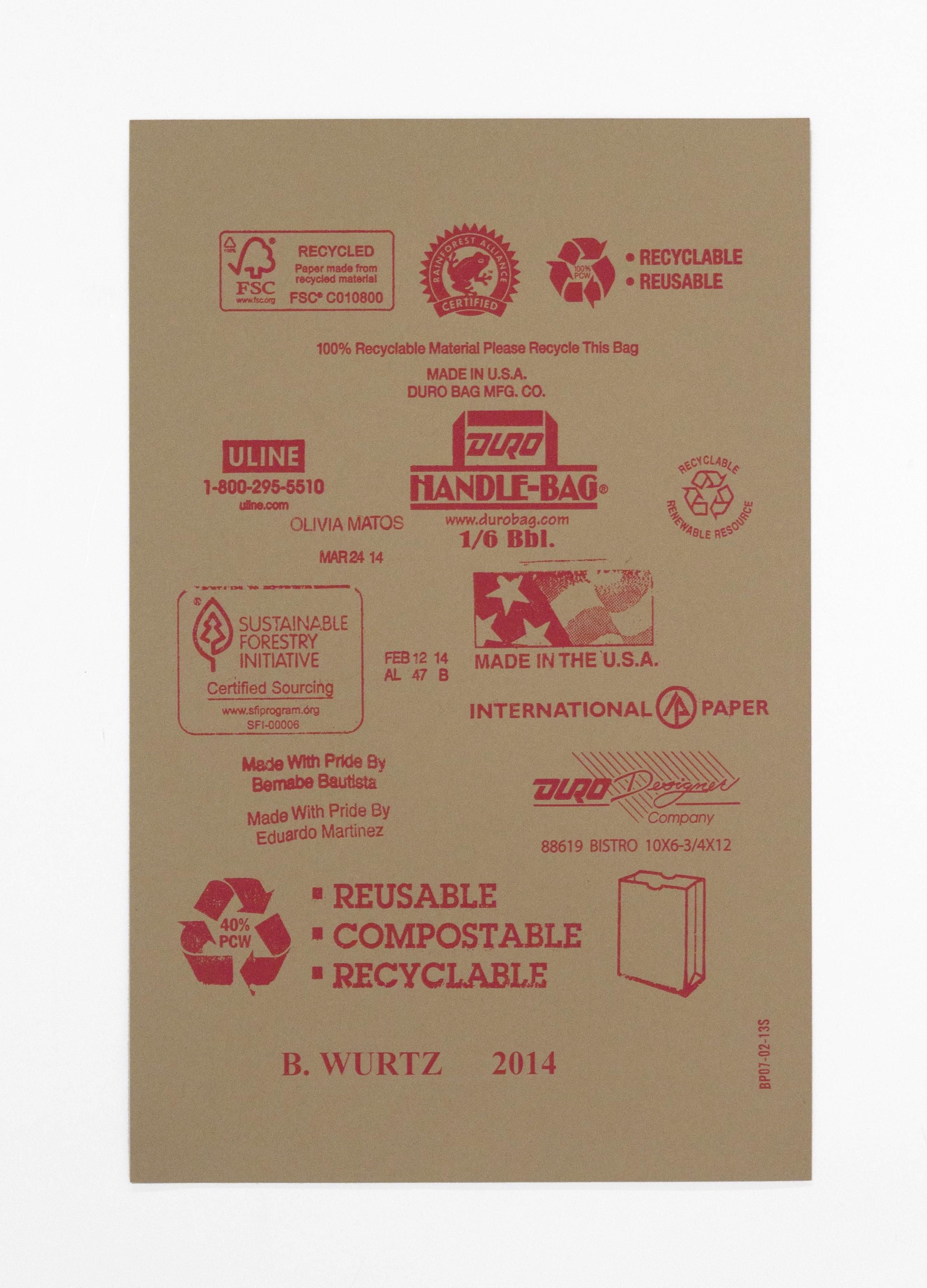 B. Wurtz, [untitled] White Columns 2015 Print Portfolio, 2015
