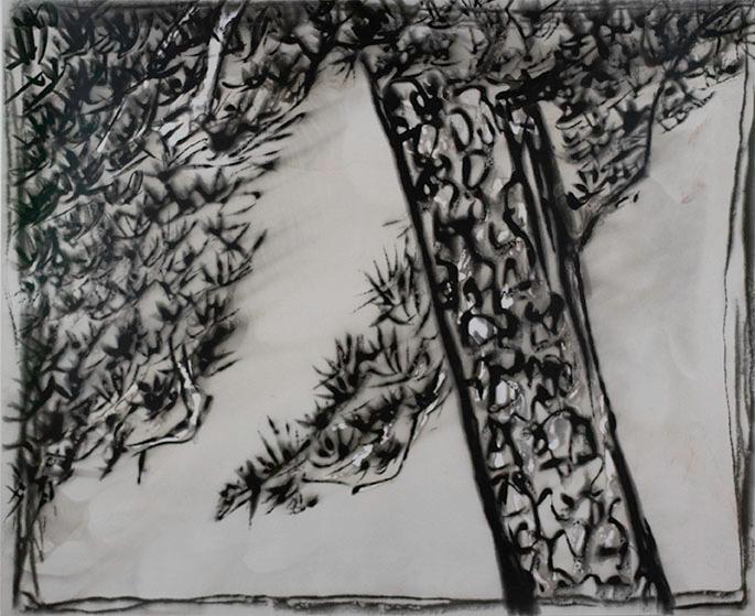 Sun Yanchu, Pine Study after Qing Masters, 2017