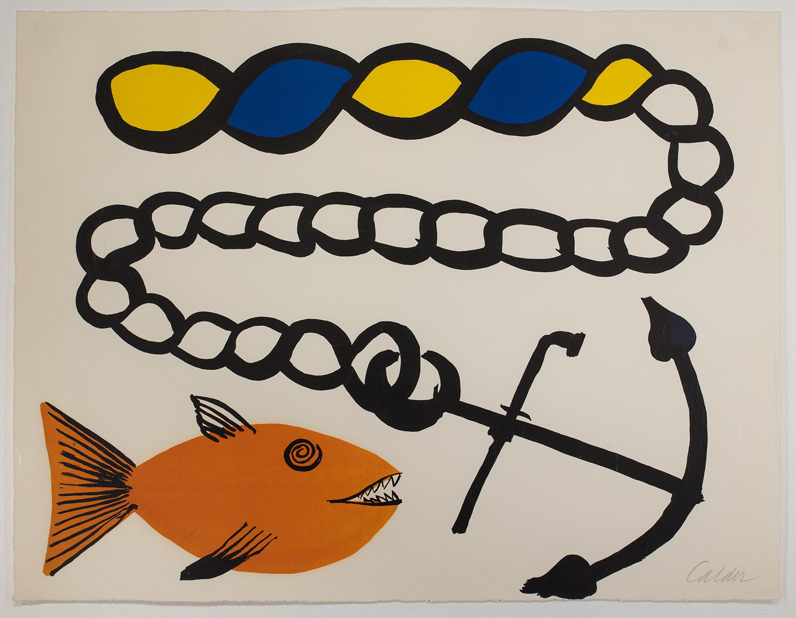 Alexander Calder, Poissant Sans Ancré, 1965
