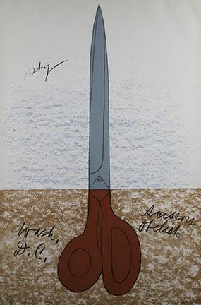 Claes Oldenburg, Scissors Obelisk, 1969