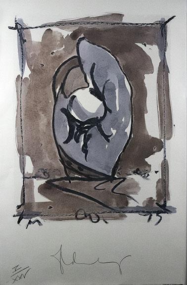 Claes Oldenburg, Study for Standing Mitt, 1976