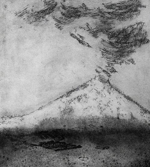 Richard Artschwager, Mount Saint Helens, 1981