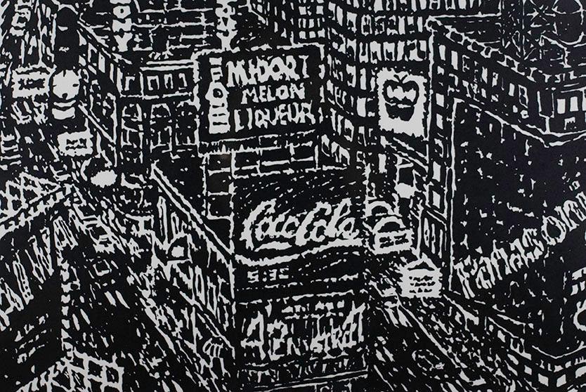 Yvonne Jacquette, Times Square, 1987