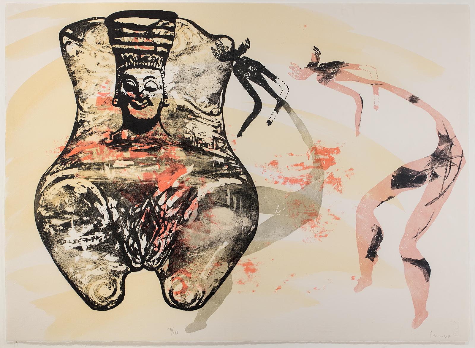 Nancy Spero, Goddess, 1987