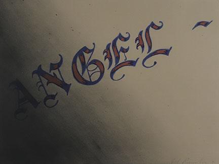 Ed Ruscha, Angel, 1991