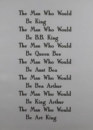 Kay Rosen, The Man, 1991