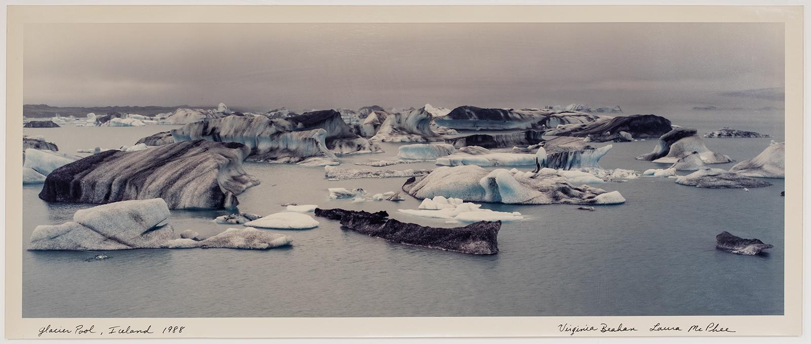 Laura and Beahan, Virginia McPhee, Glacier Pool, Iceland, 1988