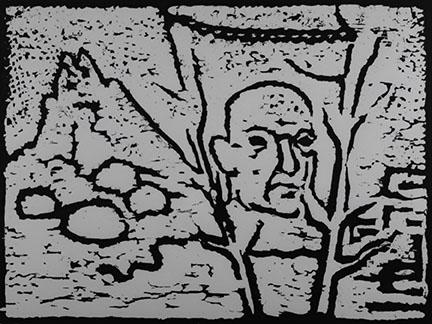 A.R. Penck, Bruckner VII, 1989 (printed)