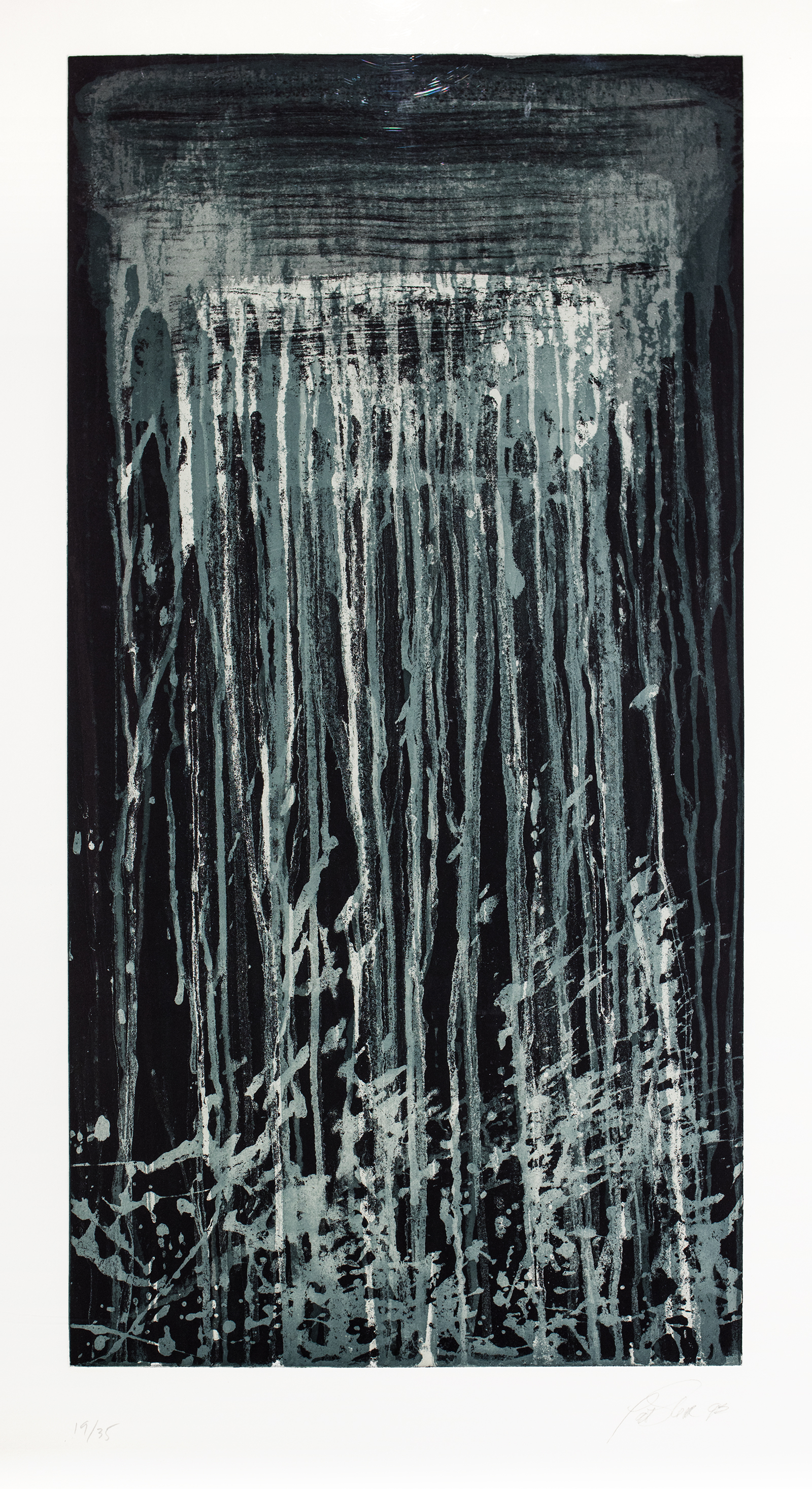 Pat Steir, Blue and White Waterfall, 1993