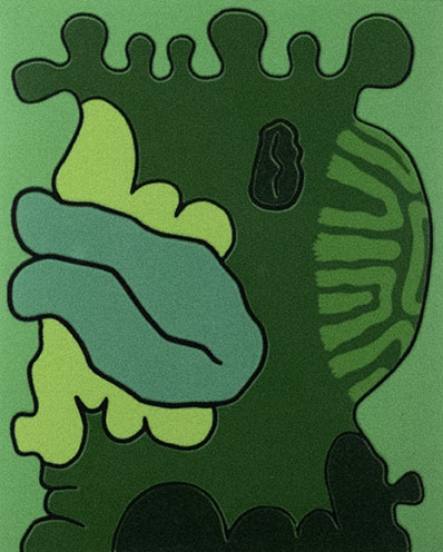 Carroll Dunham, Second Green Reduction Print, 1994-1995