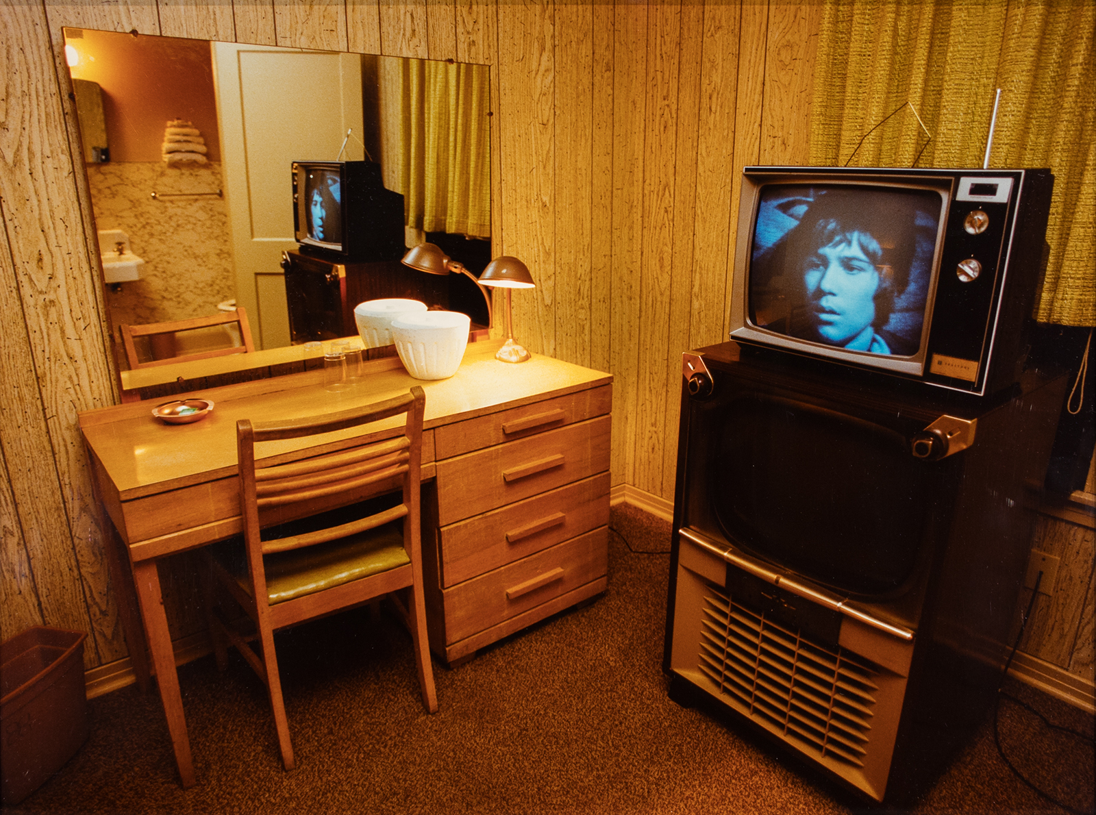 Shellburne Thurber, Motel Room with Two TVs, 1988