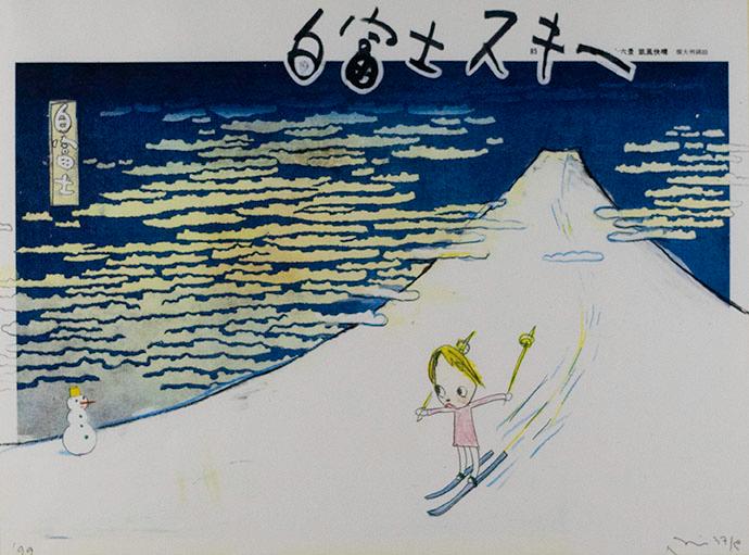 Yoshitomo Nara, White Fujiyama Ski Gelande, 1999
