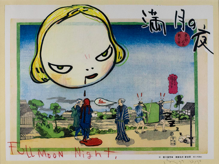 Yoshitomo Nara, Full Moon Night, 1999