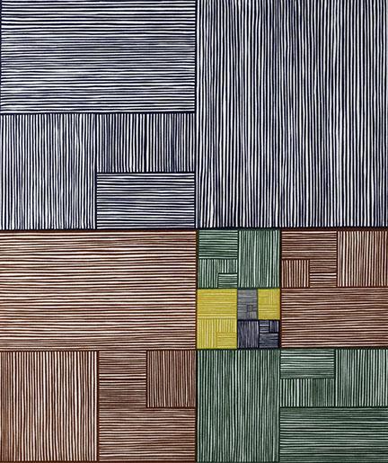 James Siena, Nine Constant Windows, 2002