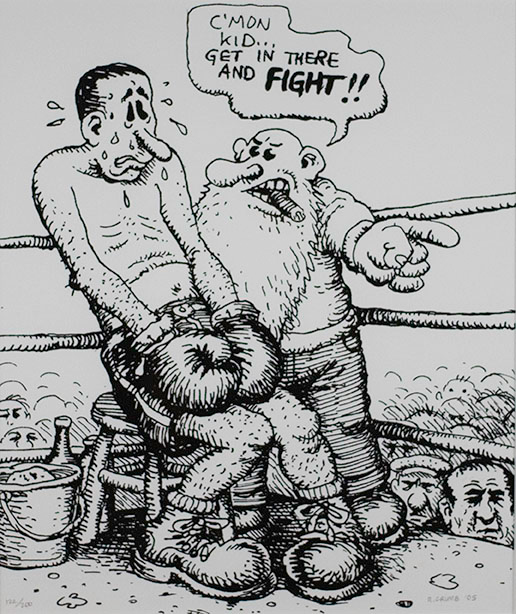 Robert Crumb, C'mon Kid...Get in There and Fight!!, 2005
