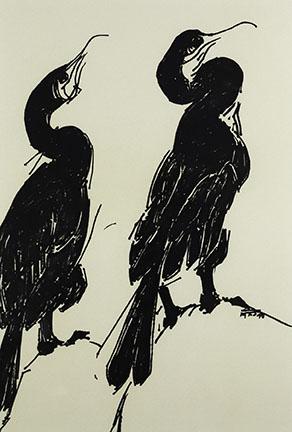 Pat de Groot, Cormorants (#1), 1991