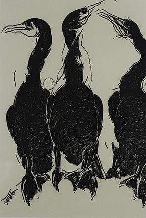Pat de Groot, Cormorants (#2), 1991