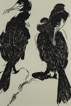 Pat de Groot, Cormorants (#4), 1991