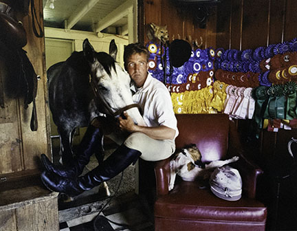 Sage Sohier, Man (Jeffrey C) with Horse, Dog, and Ribbons, Purce