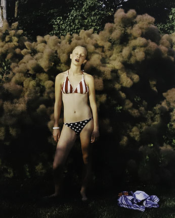 Jocelyn Lee, Untitled (Fiona With The Smokebush), 2002