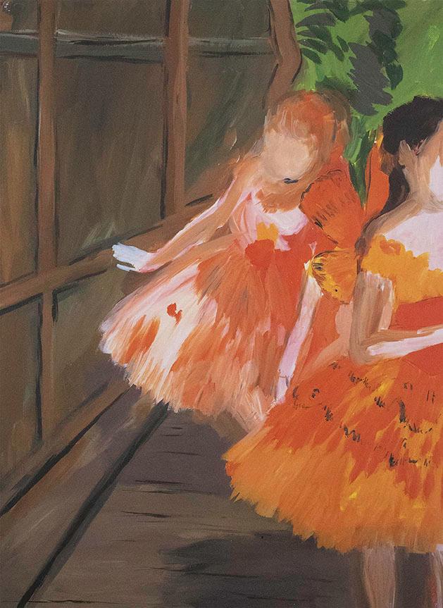 Karen Kilimnik, Dancers in the Wings, Moths, Paris Opera, Degas,