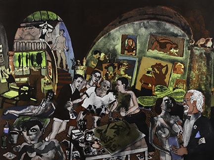 Warrington W. Colescott, Picasso at the Mougins: the etchings, 2