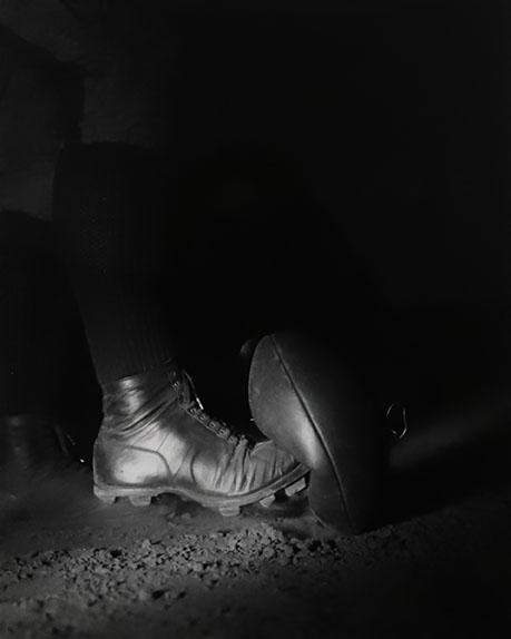 Harold Eugene Edgerton, Wes Fesler Kicking Football, 1934