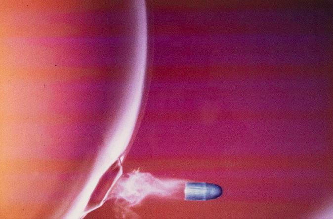 Harold Eugene Edgerton, Bullet through Bubble, 1973