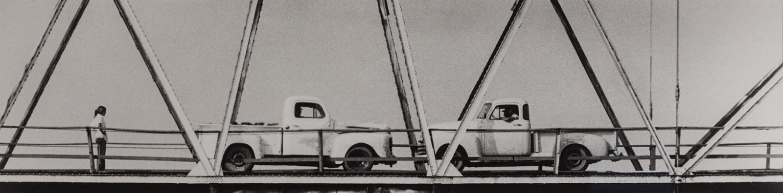 John Baldessari, Two Trucks (with Onlooker), 2008