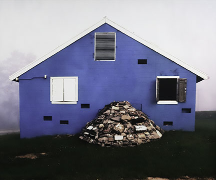 Claire Beckett, Blue House with Rubble, Suliyah Village, Joint R