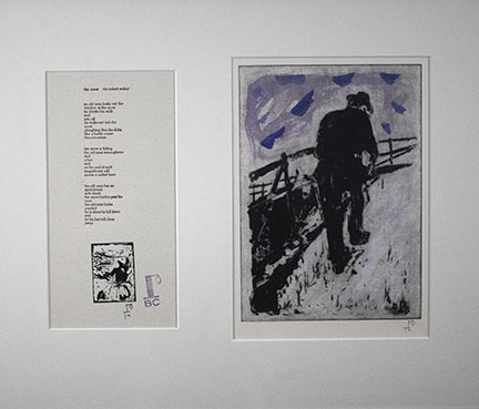 Billy Childish, Man Walking up Snowy Slope, 2010