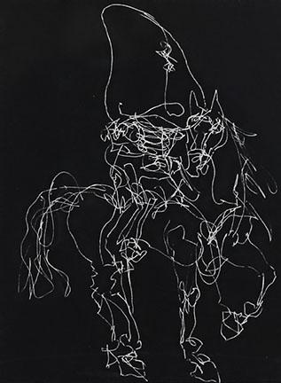 William Kentridge, Nose on a White Horse, 2010