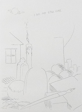 Raymond Pettibon, I am my still life, 2001