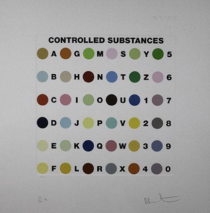 Damien Hirst, Controlled Substances Key Spot Print, 2011